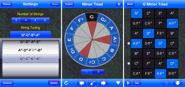 Scale Tapper as Ukulele on iPhone